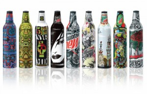 Killer Packaging on Beverage Bottles by Mountain Dew